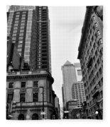 Philadelphia 18th And Walnut Street. Fleece Blanket