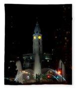 Philadelphia City Hall And Swann Fountain At Night Fleece Blanket