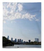 Philadelphia From Kelly Drive Fleece Blanket