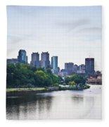 Philadelphia View From The Girard Avenue Bridge Fleece Blanket