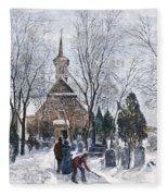 Philadelphia: Winter, 1873 Fleece Blanket