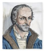 Philipp Melanchthon (1497-1560). German Scholar And Religious Reformer: Line Engraving, German, 19th Century Fleece Blanket