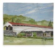 Philippi Covered Bridge  Fleece Blanket