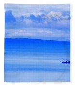 Philippine Sea Sunrise Fleece Blanket