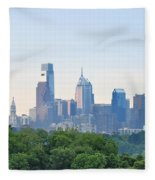 Philly Skyline Fleece Blanket
