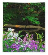 Phlox Along The Creek 7185 Fleece Blanket
