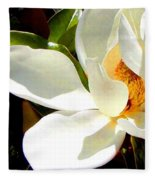 Photo For Sydneys Magnolia Painting Fleece Blanket