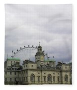 Photo Of London With London Eye In The Background Fleece Blanket