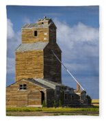 Photograph Of A  Prairie Barn Fleece Blanket