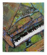 Piano Aqua Wall - Cropped Fleece Blanket