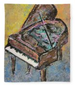 Piano Study 2 Fleece Blanket