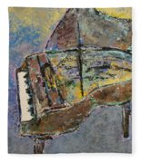 Piano Study 3 Fleece Blanket