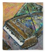 Piano Study 4 Fleece Blanket