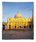 Piazza San Pietro Fleece Blanket