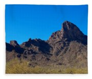 Picacho Peak - Arizona Fleece Blanket