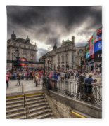 Piccadilly Circus - London Fleece Blanket