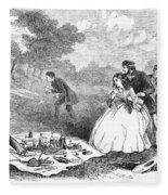 Picnic, 1859 Fleece Blanket