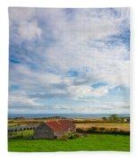 Picturesque Barn Fleece Blanket