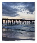 Pier In The Evening Fleece Blanket