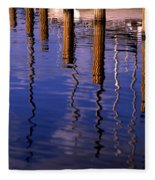 Pier Reflections Fleece Blanket