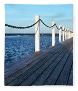 Pier To The Ocean Fleece Blanket