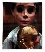 Pierrot Puppet Fleece Blanket