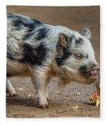 Pig With An Attitude Fleece Blanket
