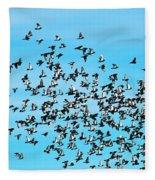 Pigeon Flight Fleece Blanket