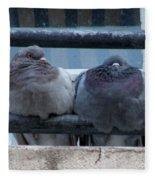 Pigeons Perching Fleece Blanket