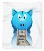 Piggy Bank Fleece Blanket