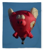 Pigs Do Fly Fleece Blanket