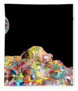 Pile Of Color In Space Two K O Four Fleece Blanket