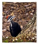 Pileated Woodpecker 3 Fleece Blanket