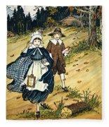 Pilgrim Schoolchildren Fleece Blanket