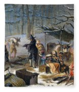 Pilgrims: First Winter, 1620 Fleece Blanket