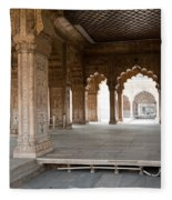 Pillars Of Building Inside Red Fort Fleece Blanket