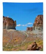 Pilot Butte Rock Formation Iv Fleece Blanket