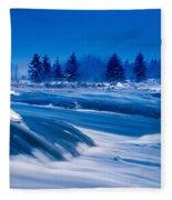 Pinawa Channel, Manitoba Fleece Blanket