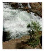 Pine And Falls Glen Alpine Falls Fleece Blanket