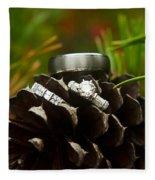 Pine Cone And Wedding Band Fleece Blanket