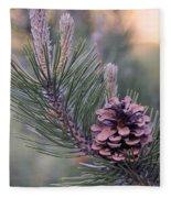 Pine Cone At Sundown Fleece Blanket