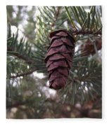 Pine Cone Fleece Blanket