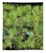 Pine Cones And Needles Fleece Blanket