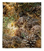 Pine Cones Fleece Blanket