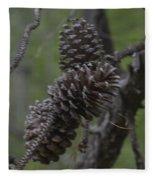 Pine Cones Fleece Blanket