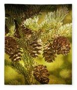Pine Cones No.056 Fleece Blanket