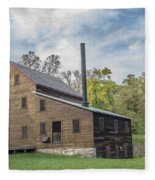 Pine Creek Grist Mill At Fall Fleece Blanket
