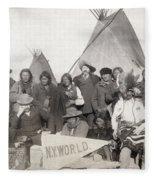 Pine Ridge Reservation Fleece Blanket