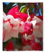 Pink And Red Fuchsia Fleece Blanket