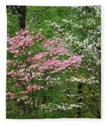 Pink And White Fleece Blanket